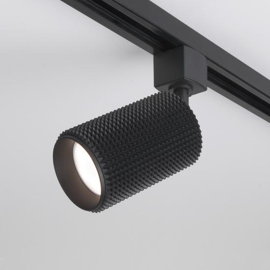 Фото №2 Трековый светильник для однофазного шинопровода Spike GU10 черный MRL 1011
