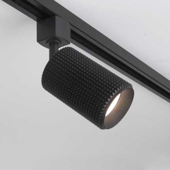 Фото №4 Трековый светильник для однофазного шинопровода Spike GU10 черный MRL 1011