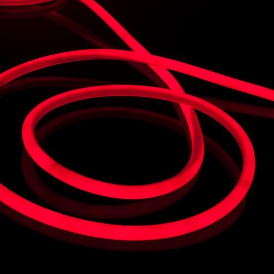 Фото №2 Набор гибкого неона круглого красного 10 м 9,6 Вт/м 120 LED 2835 IP67 16 мм LS002 220V