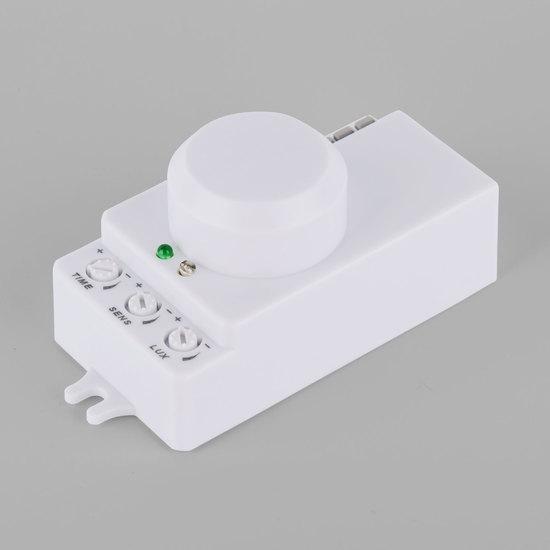 Фото №3 Микроволновый датчик движения 10м 1200W 360° IP20 Белый SNS-M-13