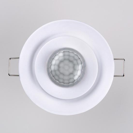 Фото №3 Инфракрасный датчик движения  8m 2,2-4m 800W IP20 360 Белый SNS-M-12
