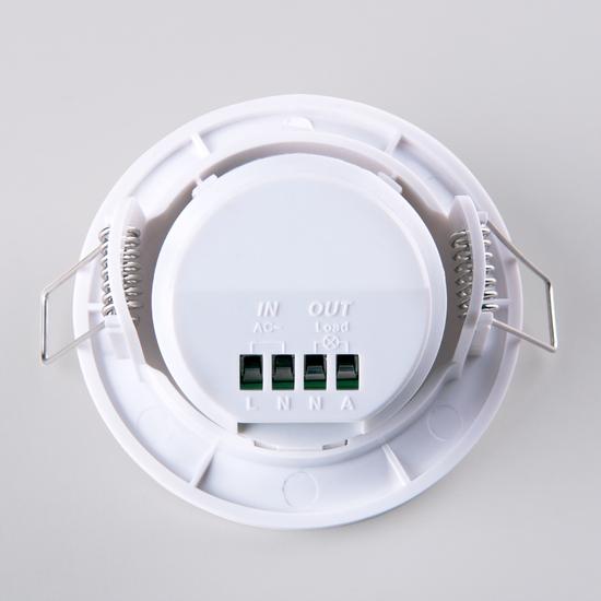 Фото №4 Инфракрасный датчик движения  8m 2,2-4m 800W IP20 360 Белый SNS-M-12