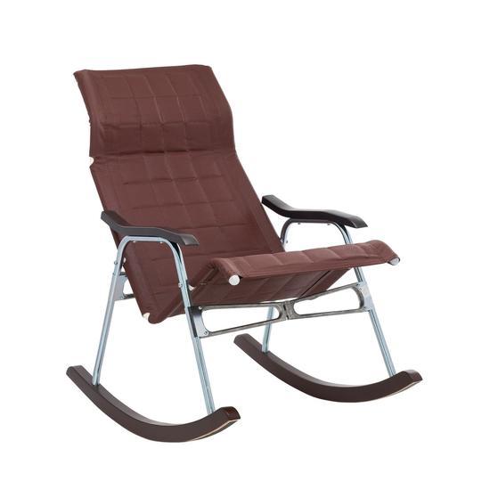 """Фото №2 Кресло-качалка складная """"Белтех"""", к/з коричневый"""