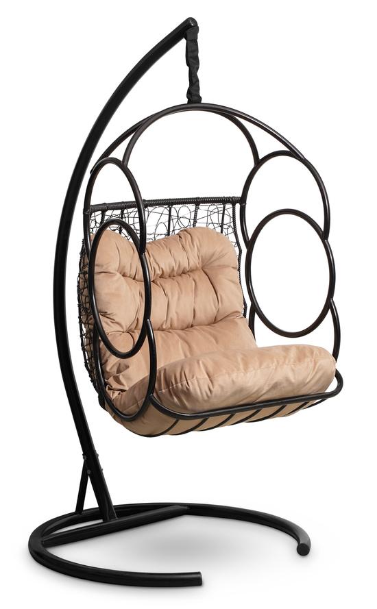 Фото №3 Подвесное кресло-кокон SENATORE черное + каркас