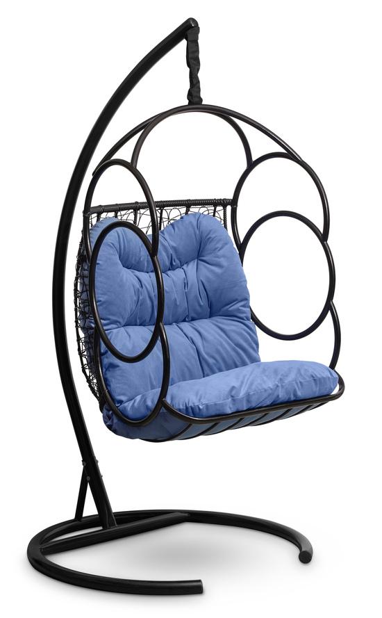 Фото №2 Подвесное кресло-кокон SENATORE черное + каркас