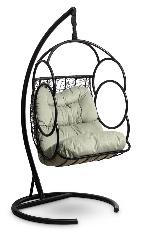 Фото №4 Подвесное кресло-кокон SENATORE черное + каркас