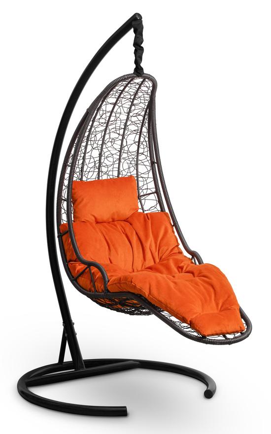 Фото №4 Подвесное кресло-кокон LUNA черное + каркас