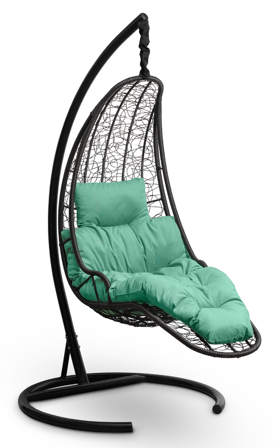 Фото №2 Подвесное кресло-кокон LUNA черное + каркас
