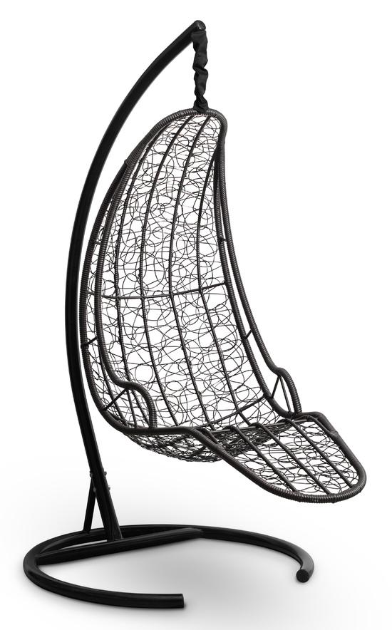 Фото №5 Подвесное кресло-кокон LUNA черное + каркас