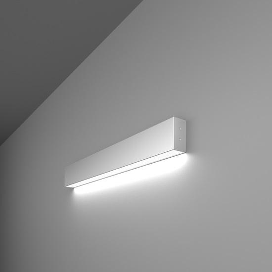 Фото №2 Линейный светодиодный накладной односторонний светильник 53см 10Вт 6500К матовое серебро LS-02-1-53-6500-MS