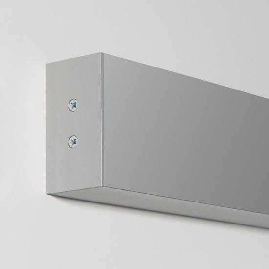 Фото №3 Линейный светодиодный накладной односторонний светильник 103см 20Вт 6500К матовое серебро 100-100-30-103