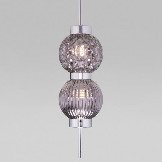 Фото №2 Подвесной светильник со стеклянными плафонами 50186/2 хром
