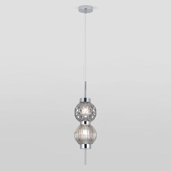 Фото №3 Подвесной светильник со стеклянными плафонами 50186/2 хром