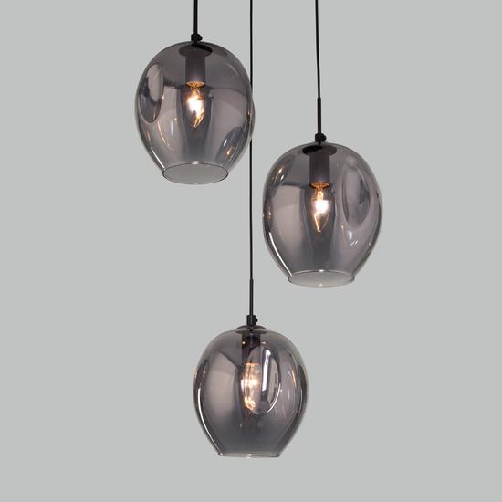 Фото №2 Подвесной светильник со стеклянными плафонами 50195/3 черный жемчуг