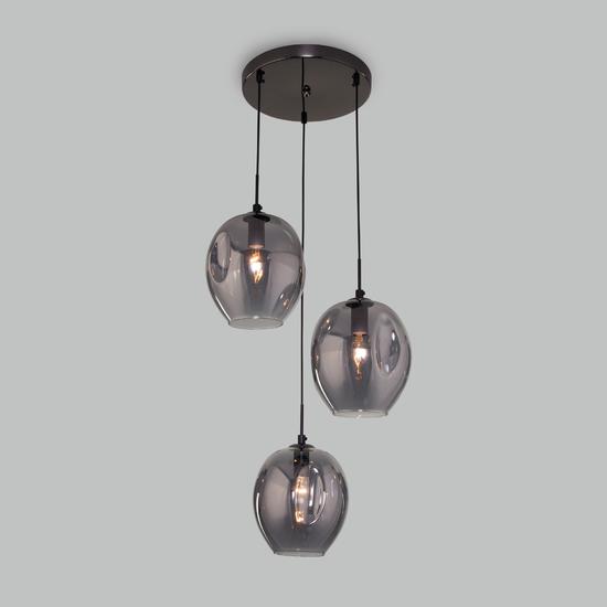 Фото №3 Подвесной светильник со стеклянными плафонами 50195/3 черный жемчуг