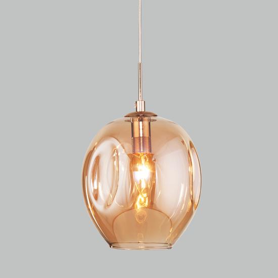 Фото №2 Подвесной светильник со стеклянным плафоном 50195/1 золото