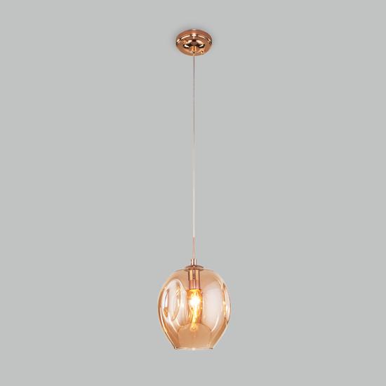 Фото №3 Подвесной светильник со стеклянным плафоном 50195/1 золото