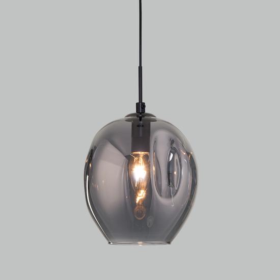 Фото №2 Подвесной светильник со стеклянным плафоном 50195/1 черный жемчуг
