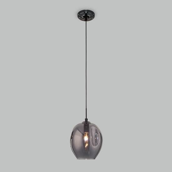 Фото №3 Подвесной светильник со стеклянным плафоном 50195/1 черный жемчуг