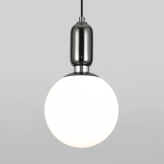 Фото №2 Подвесной светильник со стеклянным плафоном 50197/1 черный жемчуг