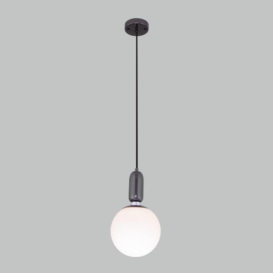 Фото №3 Подвесной светильник со стеклянным плафоном 50197/1 черный жемчуг