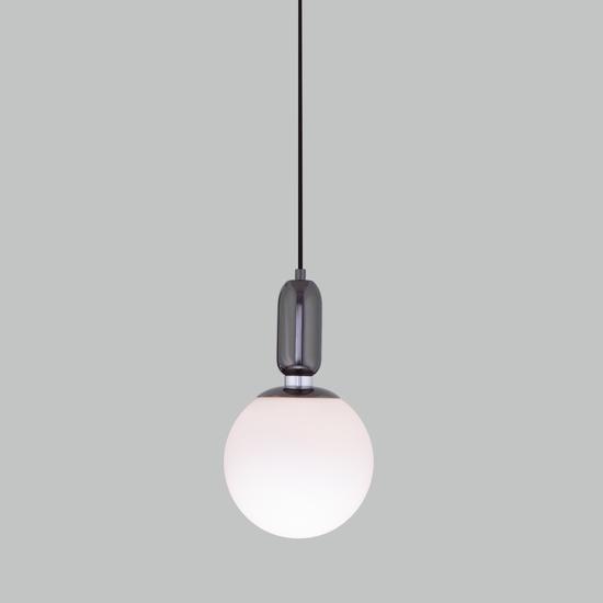 Фото №4 Подвесной светильник со стеклянным плафоном 50197/1 черный жемчуг