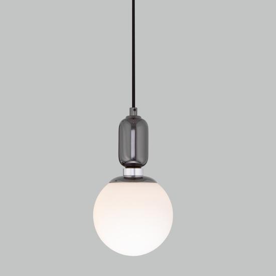 Фото №2 Подвесной светильник со стеклянным плафоном 50151/1 черный жемчуг