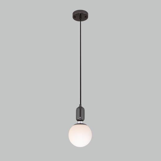 Фото №3 Подвесной светильник со стеклянным плафоном 50151/1 черный жемчуг