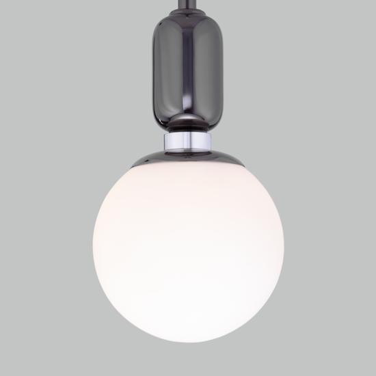 Фото №4 Подвесной светильник со стеклянным плафоном 50151/1 черный жемчуг