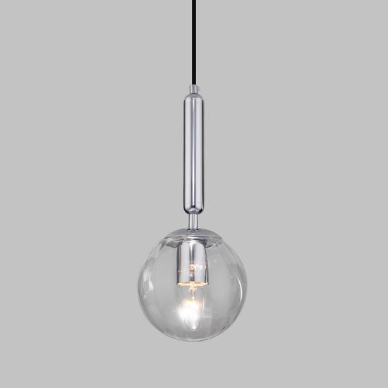 Фото №2 Подвесной светильник со стеклянным плафоном 50208/1 прозрачный