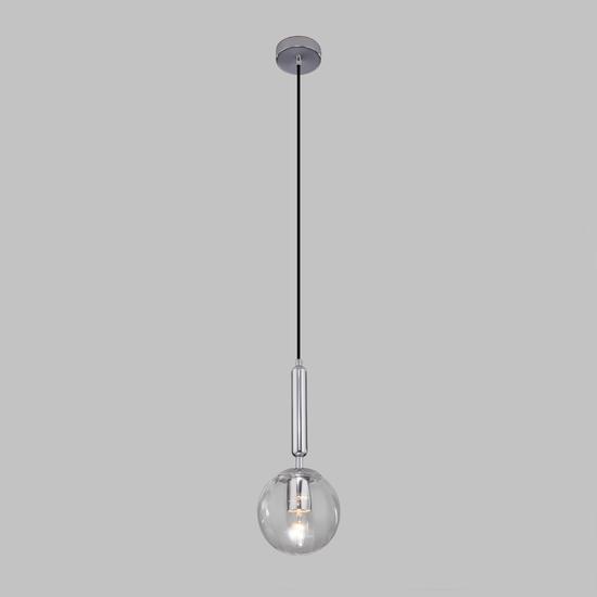 Фото №3 Подвесной светильник со стеклянным плафоном 50208/1 прозрачный