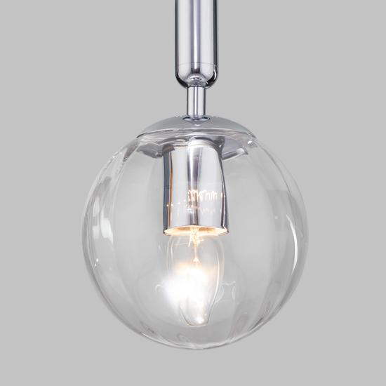 Фото №4 Подвесной светильник со стеклянным плафоном 50208/1 прозрачный