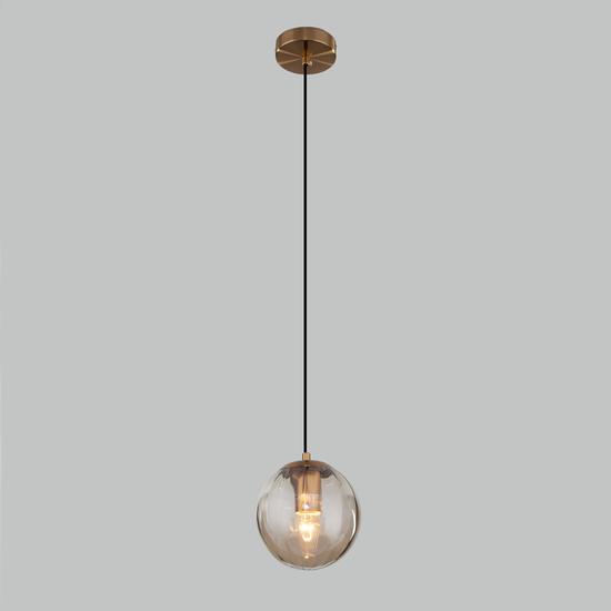 Фото №3 Подвесной светильник со стеклянным плафоном 50207/1 янтарный