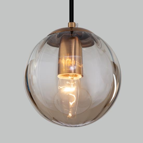 Фото №4 Подвесной светильник со стеклянным плафоном 50207/1 янтарный