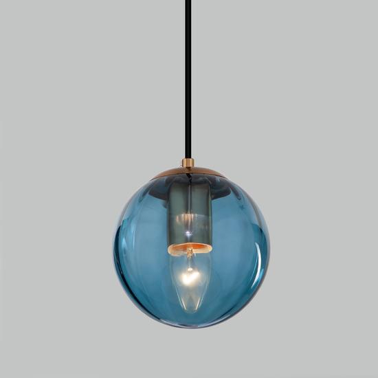 Фото №2 Подвесной светильник со стеклянным плафоном 50207/1 синий
