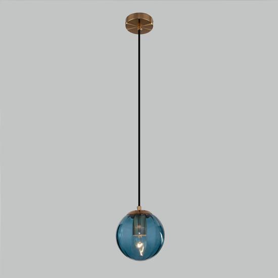 Фото №3 Подвесной светильник со стеклянным плафоном 50207/1 синий