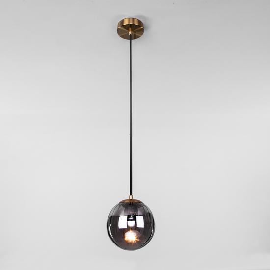 Фото №3 Подвесной светильник со стеклянным плафоном 50207/1 дымчатый