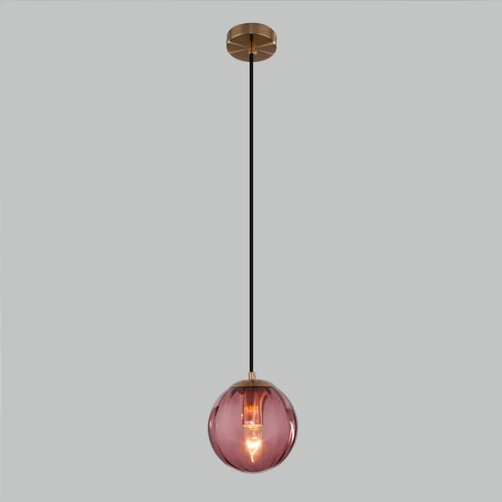Фото №3 Подвесной светильник со стеклянным плафоном 50207/1 бордовый