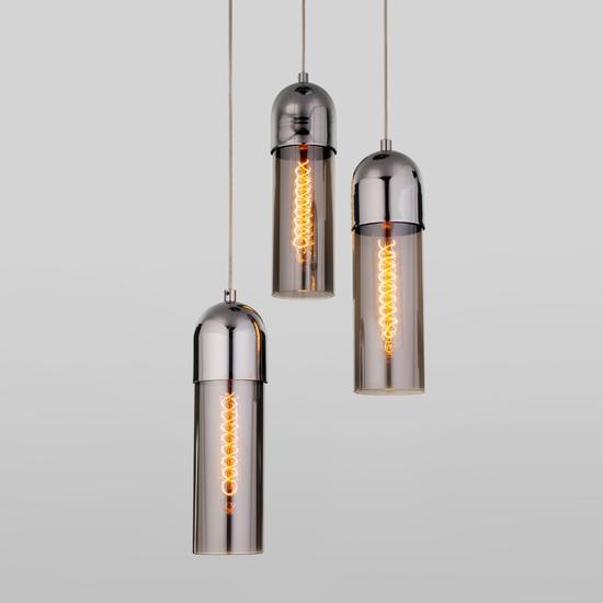 Фото №2 Подвесной светильник со стеклянными плафонами 50180/3 дымчатый
