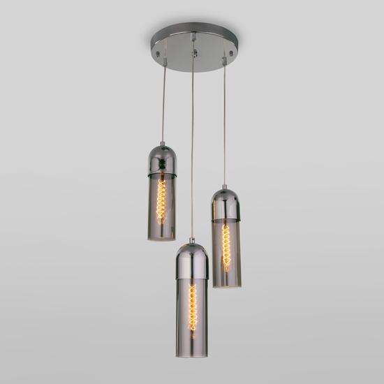 Фото №3 Подвесной светильник со стеклянными плафонами 50180/3 дымчатый