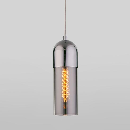 Фото №2 Подвесной светильник со стеклянным плафоном 50180/1 дымчатый