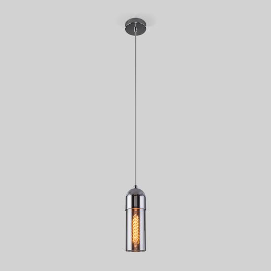 Фото №3 Подвесной светильник со стеклянным плафоном 50180/1 дымчатый
