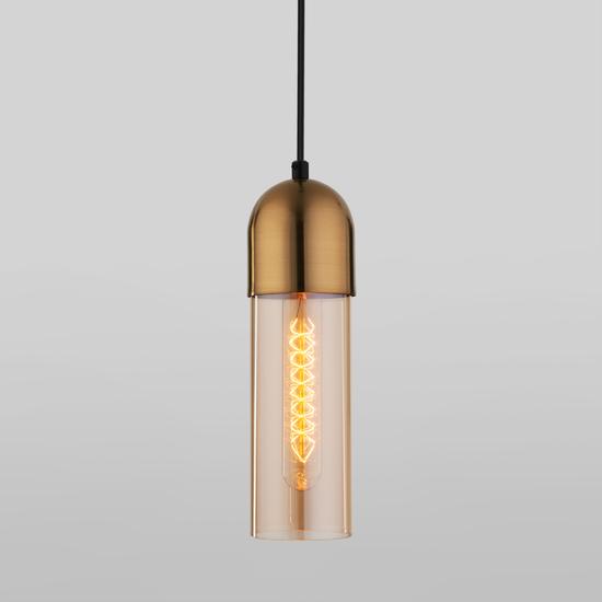 Фото №2 Подвесной светильник со стеклянным плафоном 50180/1 янтарный