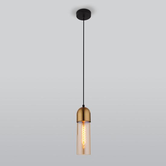 Фото №3 Подвесной светильник со стеклянным плафоном 50180/1 янтарный