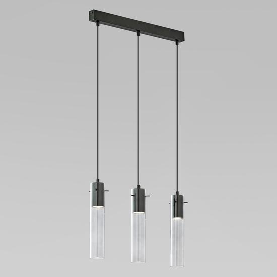 Фото №2 Подвесной светильник со стеклянными плафонами 855 Look Graphite