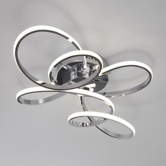 Фото №6 Потолочный светодиодный светильник с пультом управления 90127/2 хром