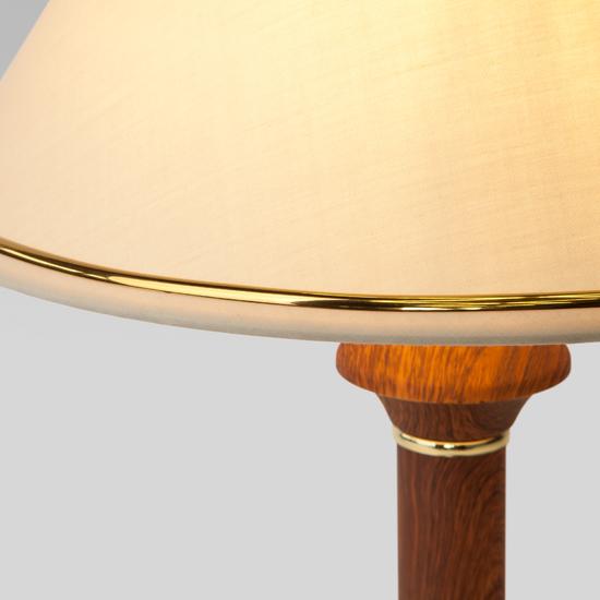 Фото №4 Классическая настольная лампа 60019/1 орех