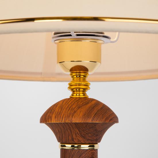 Фото №5 Классическая настольная лампа 60019/1 орех