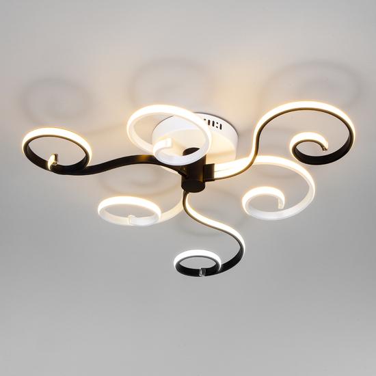 Фото №3 Потолочный светодиодный светильник с пультом управления 90149/3 белый/черный