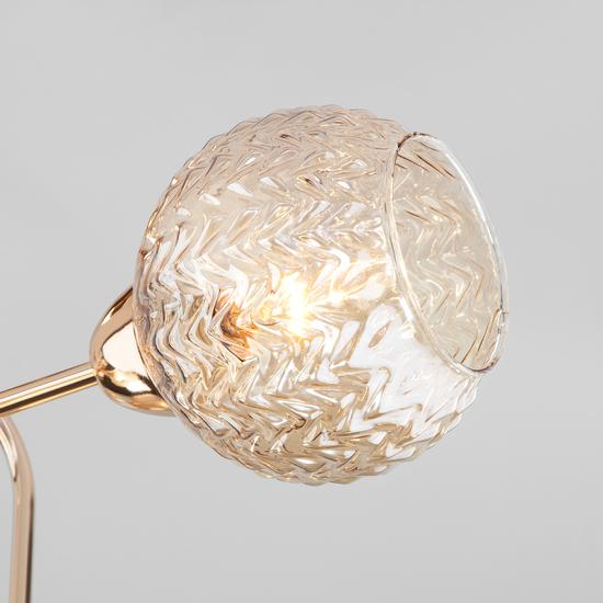 Фото №4 Потолочная люстра со стеклянными плафонами 30175/6 золото